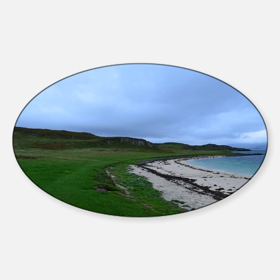 Coral Beach in Skye Scotland Sticker (Oval)