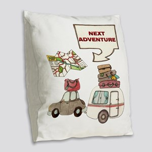 NEXTADVENTURE Burlap Throw Pillow