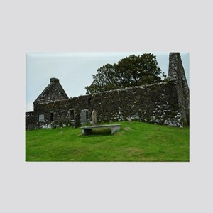 Ruins on the Isle of Skye Rectangle Magnet