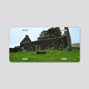 Ruins on the Isle of Skye Aluminum License Plate