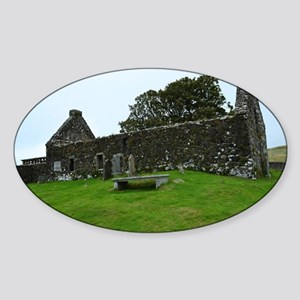 Ruins on the Isle of Skye Sticker (Oval)