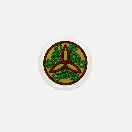 Tri-Color Dragon Trinity Knot Mini Button