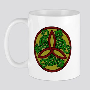 Tri-Color Dragon Trinity Knot Mug