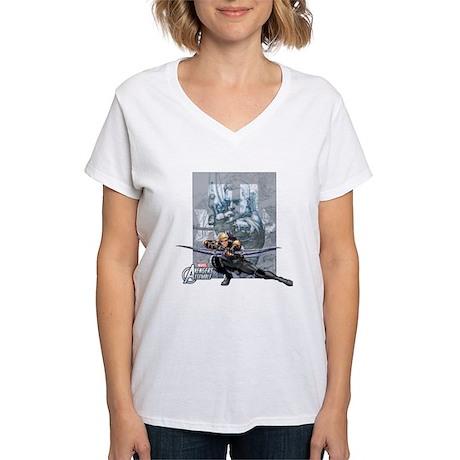 Hawkeye Aiming Women's V-Neck T-Shirt