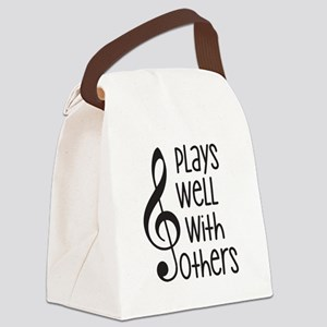 Plays Well with Other - G clef Canvas Lunch Bag