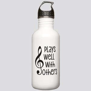 Plays Well with Other - G clef Water Bottle