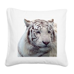 Disappearing Tigers Square Canvas Pillow