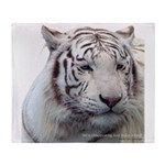 Disappearing Tigers Throw Blanket