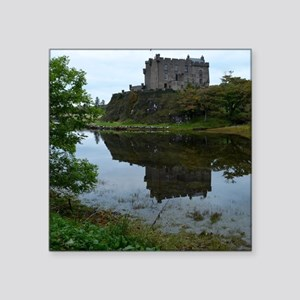 "Pretty Dunvegan Castle Square Sticker 3"" x 3"""