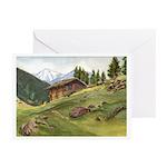 Alpine Chalet Greeting Cards