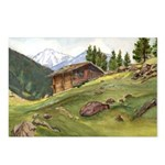 Alpine Chalet Postcards (package Of 8)