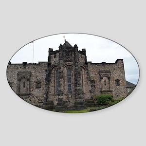 Edinburgh Castle Interior Sticker (Oval)