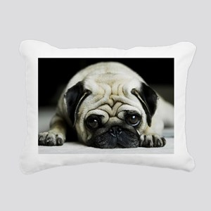 Pug Rectangular Canvas Pillow