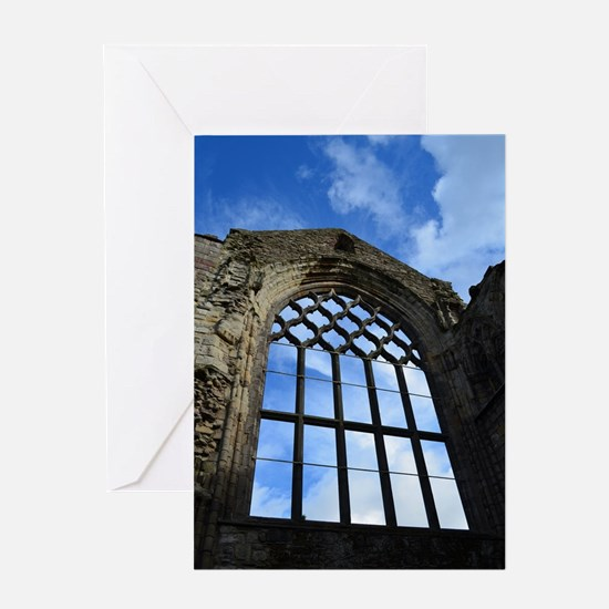 Window at Holyrood Abbey Greeting Card