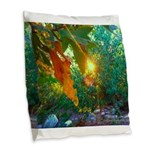 Eden Sunset Burlap Throw Pillow