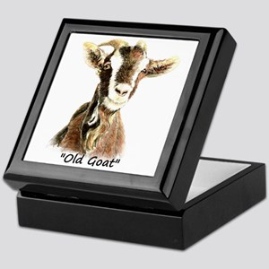 Old Goat Fun Quote for Him Keepsake Box