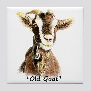 Old Goat Fun Quote for Him Tile Coaster