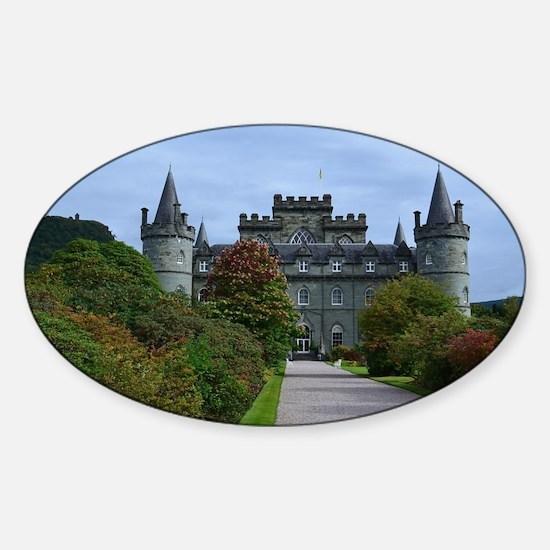 Inveraray Palace in Scotland Sticker (Oval)