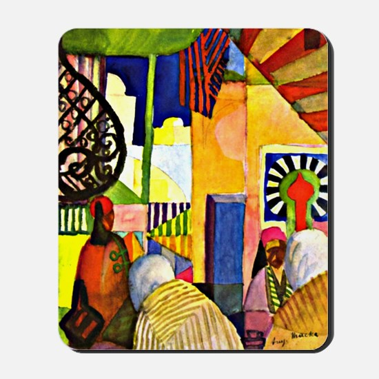 August Macke - In the Bazaar Mousepad