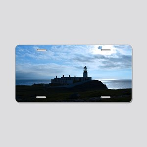 Silhouetted Lighthouse at N Aluminum License Plate