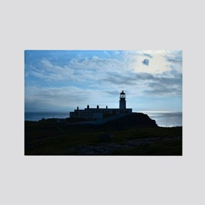 Silhouetted Lighthouse at Neist P Rectangle Magnet