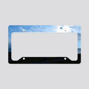 Silhouetted Lighthouse at Nei License Plate Holder