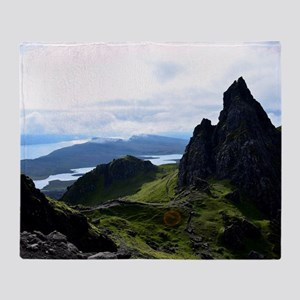 Hiking on the Isle of Skye Throw Blanket
