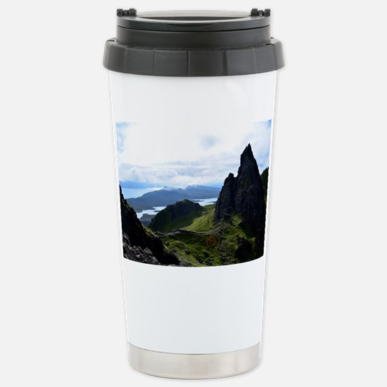 Hiking on the Isle of S Stainless Steel Travel Mug