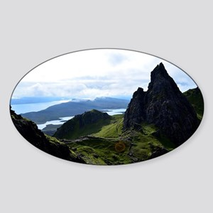 Hiking on the Isle of Skye Sticker (Oval)