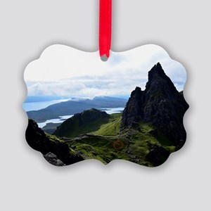 Hiking on the Isle of Skye Picture Ornament