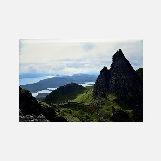 Hiking on the Isle of Skye Rectangle Magnet