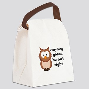 Everything Gonna Be Owl Right Canvas Lunch Bag