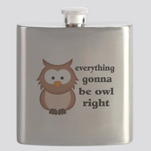 Everything Gonna Be Owl Right Flask