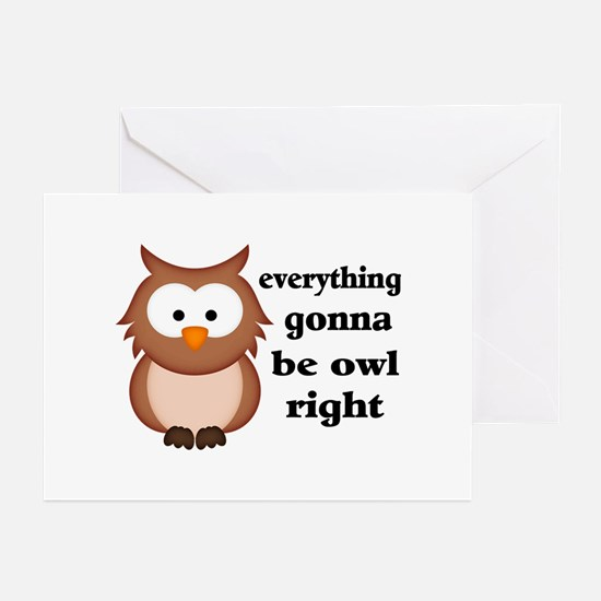 Everything Gonna Be Owl Greeting Cards (Pk of 10)