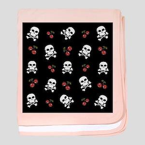 Skulls and Cherries baby blanket