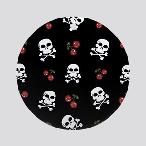 Skulls and Cherries Ornament (Round)