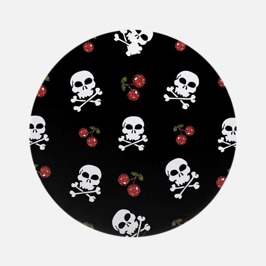 Skulls and Cherries Ornament (Round)