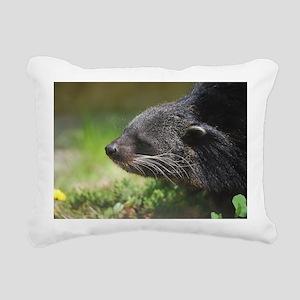 Binturong Profile Rectangular Canvas Pillow