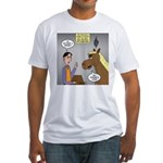 Horse Coffee Fitted T-Shirt