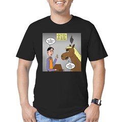 Horse Coffee Men's Fitted T-Shirt (dark)