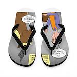 Horse Coffee Flip Flops