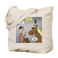 Horse Coffee Tote Bag