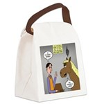 Horse Coffee Canvas Lunch Bag