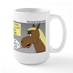 Horse Coffee Large Mug