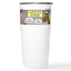 Horse Coffee Stainless Steel Travel Mug