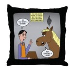 Horse Coffee Throw Pillow