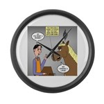 Horse Coffee Large Wall Clock