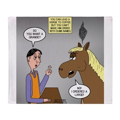 Horse Coffee Throw Blanket