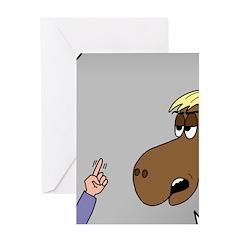 Horse Coffee Greeting Card