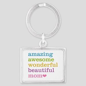 Amazing Mom Landscape Keychain